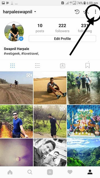 -Clear Instagram Search History