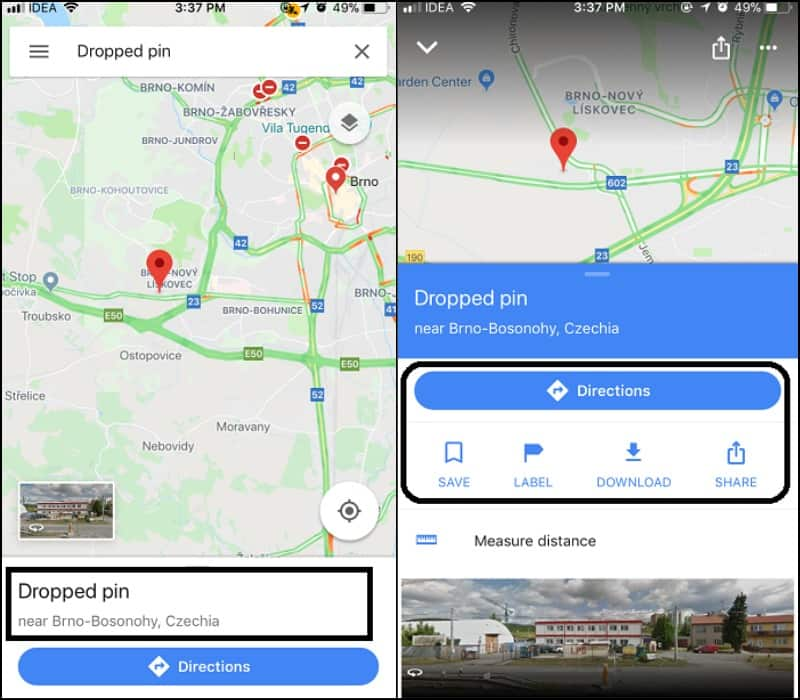 Use a Drop a Pin on Google Maps to Save Location Drop Pin Google Maps on