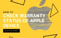 check warranty status of apple device