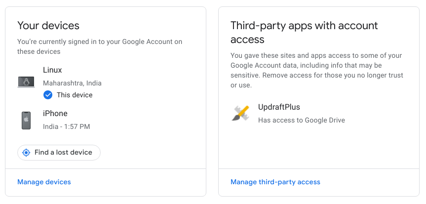 Remove third-party apps from google